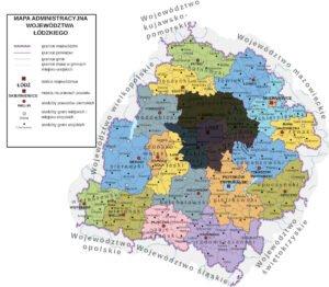 Mapa Województwa Łódzkiego Innowacyjny biznes II